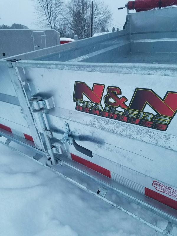 2019 N&N Trailers 6x10 Galvanized 10K LB GVW Dump Trailer