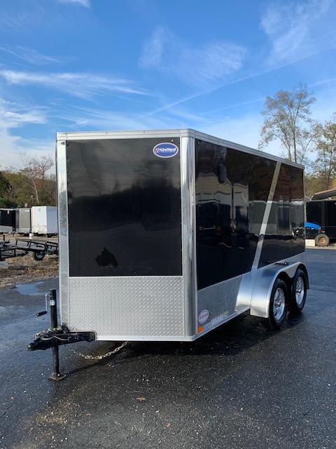 United 7' x 12' Enclosed Cargo Trailer with Ramp