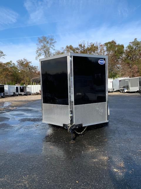 United 7' x 12' XLMTV Black/Black Enclosed Cargo Trailer with Ramp