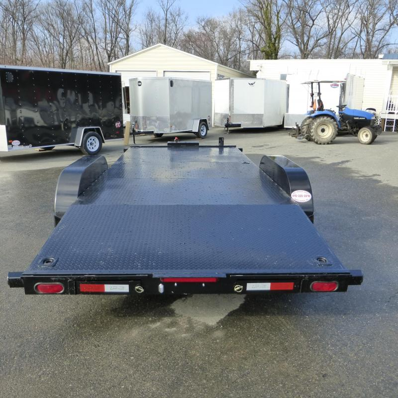 Quality 7' x 18' Solid Deck Car Hauler w/ Winch Plate and Battery Box