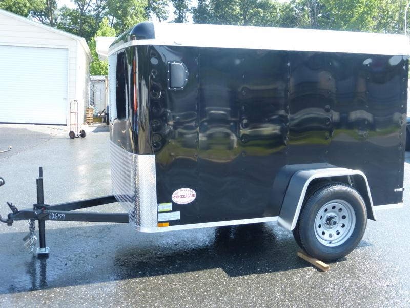 Lark VT5X8SA Black Enclosed Cargo Trailer