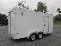 United Trailers Enclosed Trailer w/ Contractor Package 7' x 16' Flat nose w/ Cargo doors