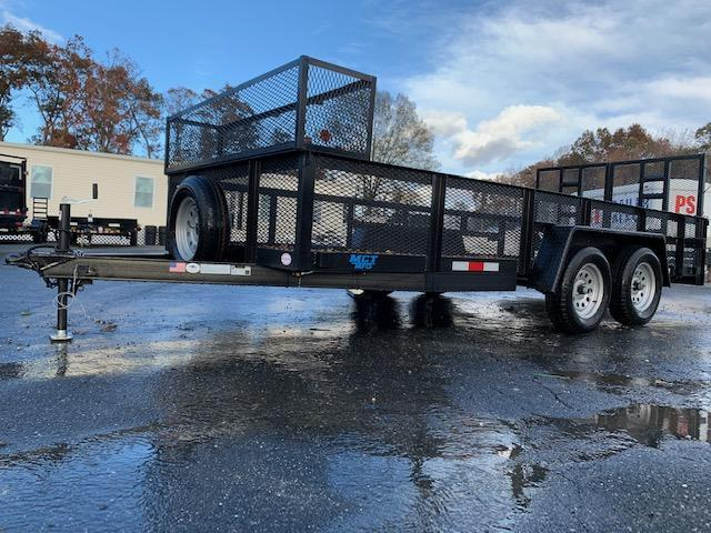 MCT 7' x 16' Landscape Trailer w/ Box and Spring Assist Ramps
