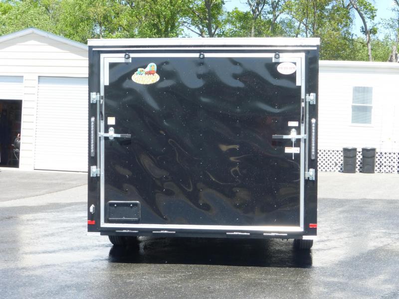 Covered Wagon 8.5' x 16' Black Enclosed Car Hauler