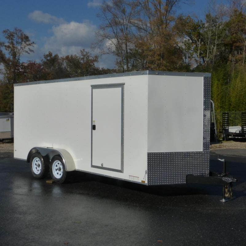 Diamond Cargo 7' x 16' Enclosed Cargo Trailer with Ramp