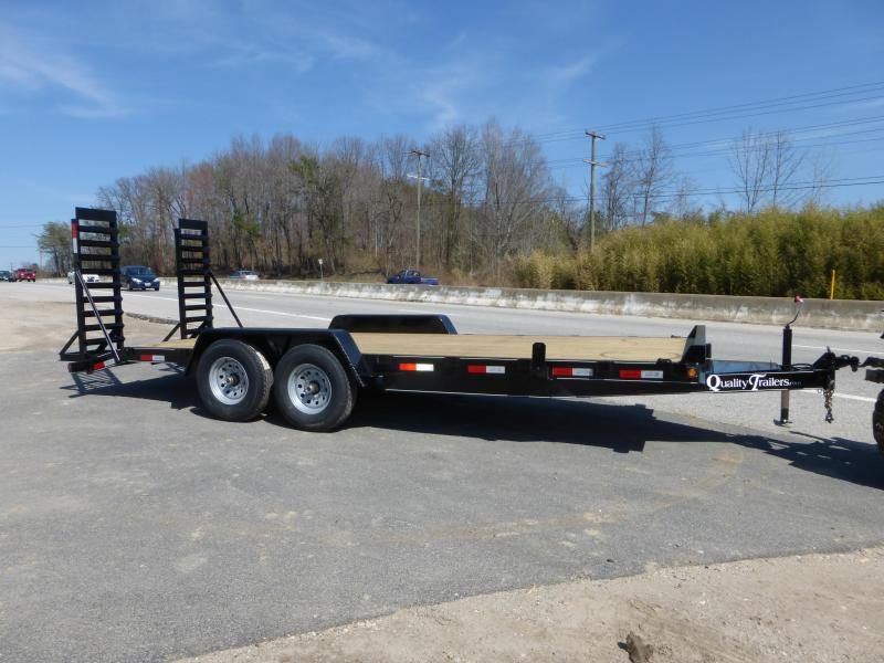 Quality 7' x 20' 14K Equipment Trailer w/ Tool Tray & Lid
