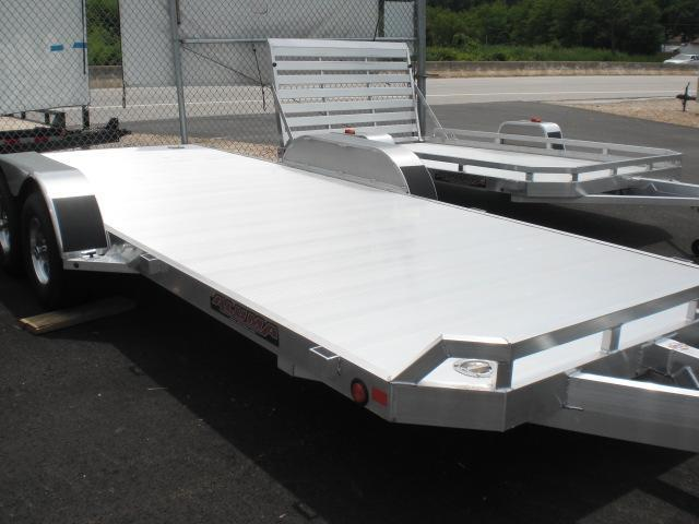 "Aluma 82"" x 18' 7K Open Aluminum Car Trailer"