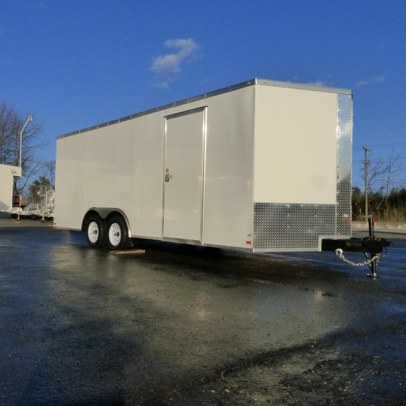 Covered Wagon 8.5' x20' V-Nose Enclosed Car Trailer