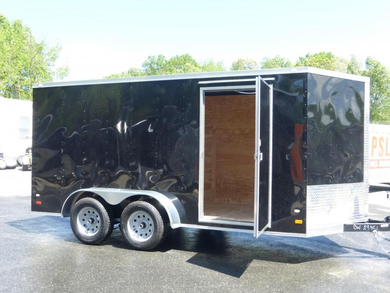 Covered Wagon 7' x 14' Black Enclosed Cargo Trailer w/Ramp