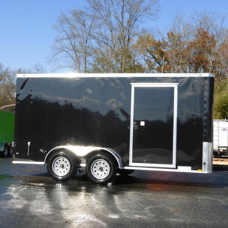 Diamond Cargo 7' X 14' TA Black Enclosed Cargo Trailer w/Cargo Doors in the Rear