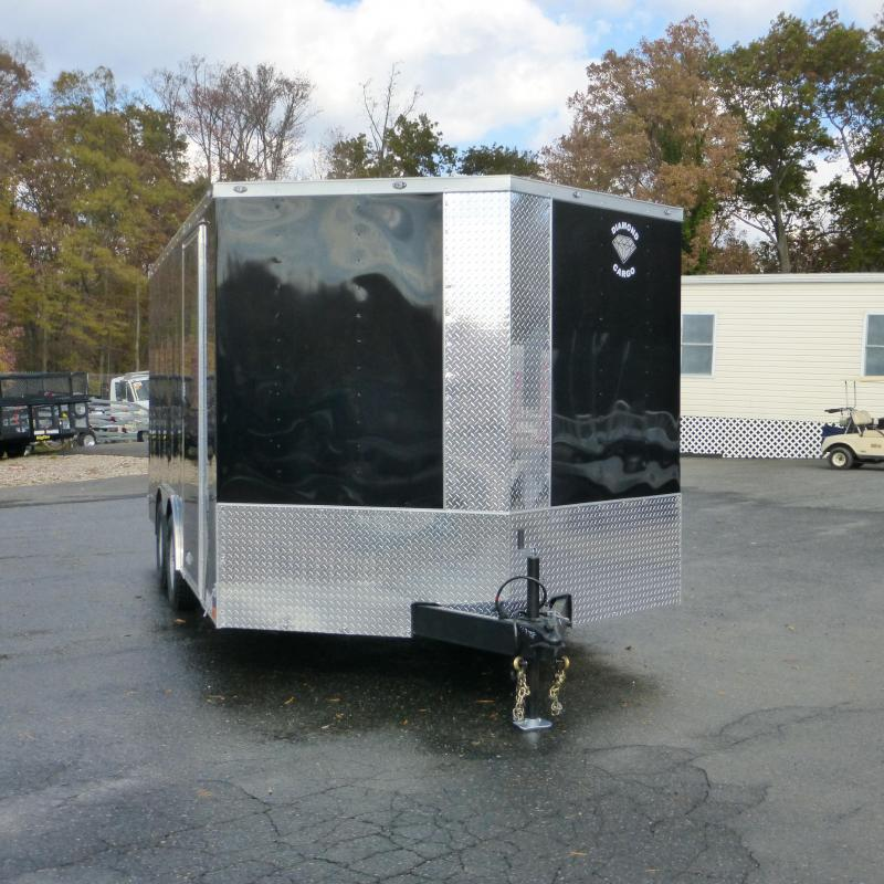 Diamond Cargo 8.5' x 16' Black Enclosed Cargo Trailer