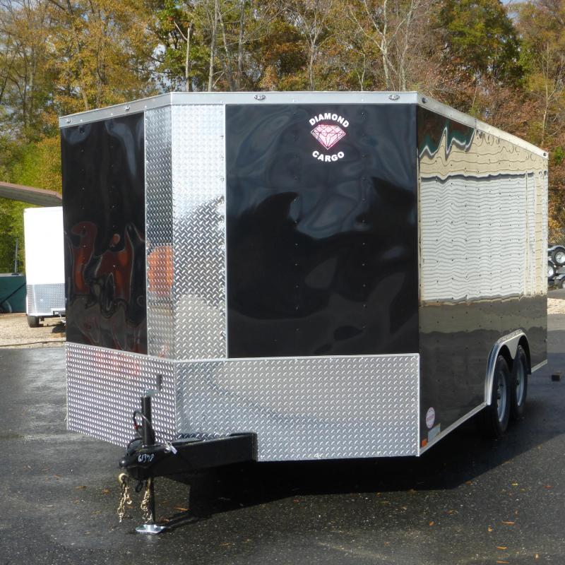 Diamond Cargo 8.5' x 16' Black Enclosed Cargo Trailer