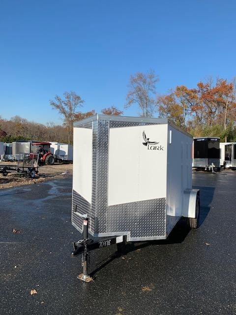 Lark 5' x 10' V-Nose Enclosed Trailer w/ Ramp and Side Door