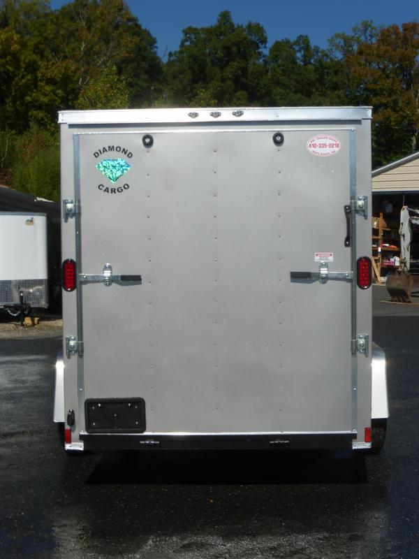 Diamond Cargo 6' x 10' Beige V-Nose Enclosed Cargo Trailer w/Ramp