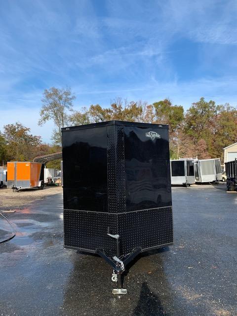 Diamond Cargo 6' x 12' Black Enclosed Cargo Trailer; Blackout Package
