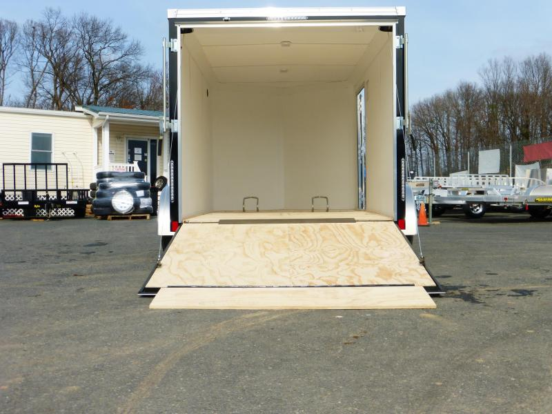United Trailers XLMTV 7' x 12' Charcoal/Black Enclosed Cargo Trailer
