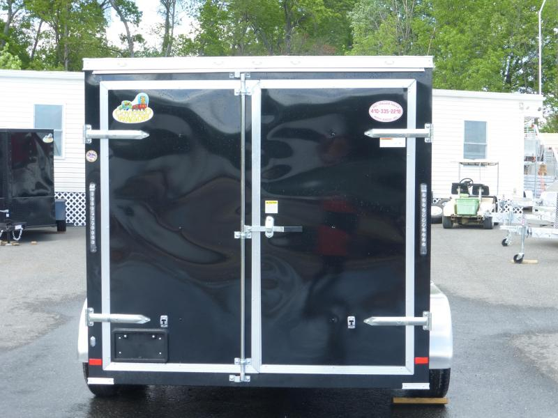 Covered Wagon 7' X 12' Black Tandem Axle Enclosed Cargo Trailer w/Cargo Doors in the Rear