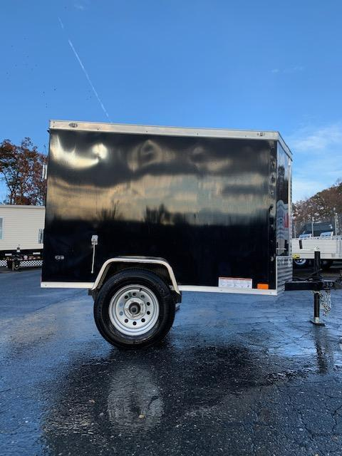 Diamond Cargo 4' x 6' Black Enclosed Trailer w/ a V-Nose and Single Swing Door