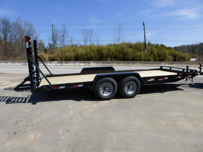 Quality 7' x 20' Fender Skidsteer Equipment Trailer 14K