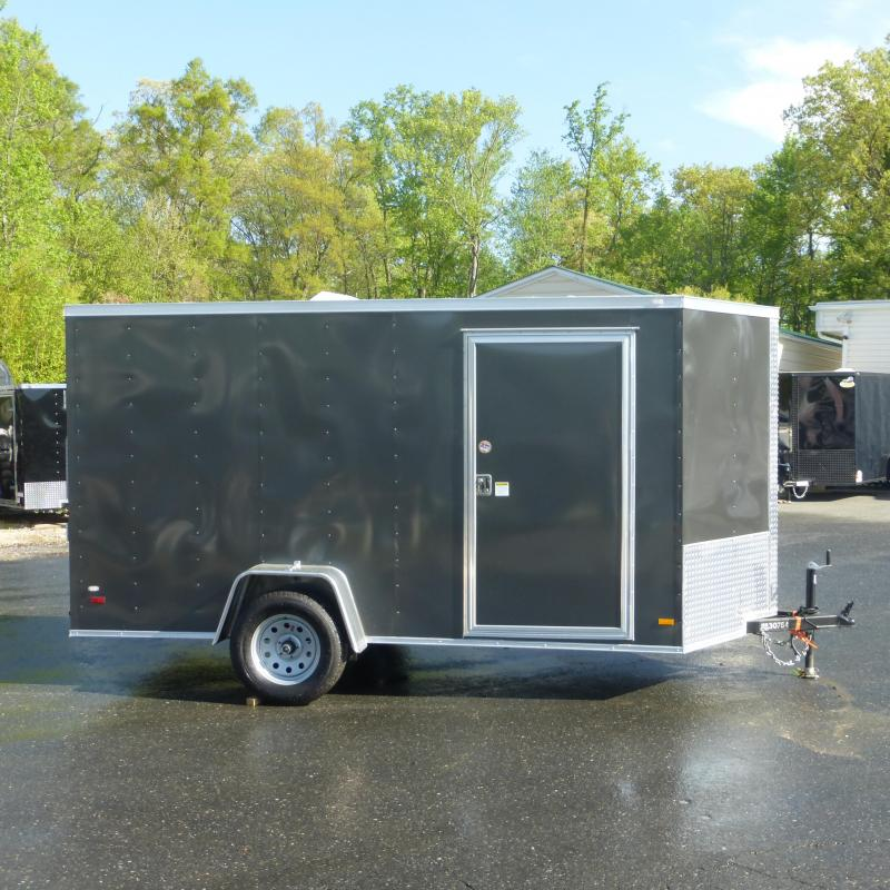 Diamond Cargo 6' x 12' Charcoal Enclosed Trailer w/ Ramp