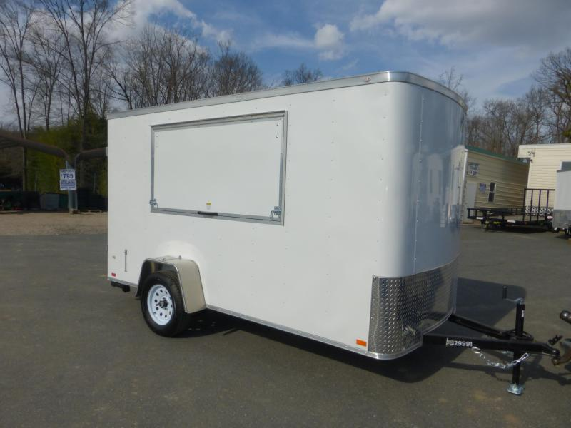 Covered Wagon 6' x 12' Concession Trailer w/ Cargo Doors and Extra Height