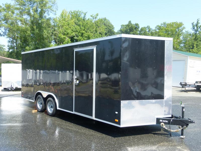 Covered Wagon 8.5' x 20' Black V-Nose Enclosed Car Trailer