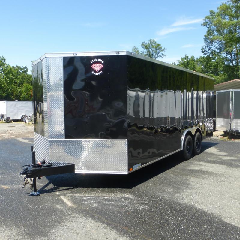 Diamond Cargo 8.5' x 20' Black Enclosed Car Trailer with Torsion Axles-10K