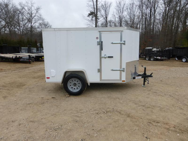 Lark 5' x 8' V-Nose Enclosed Trailer w/Ramp