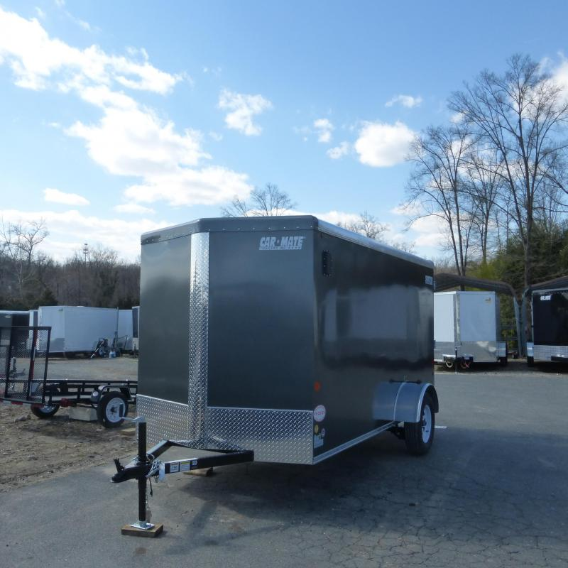 Car Mate 6' x 12' Charcoal Enclosed Cargo Trailer w/Ramp