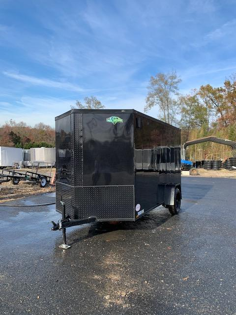 2020 Diamond Cargo 6X10SA Enclosed Cargo Trailer Black w/Blackout Package