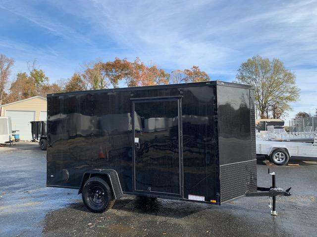 2020 Diamond Cargo 6X10SA Enclosed Cargo Trailer Black w/Blackout Package