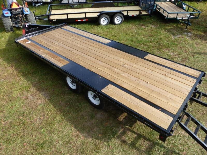 Big Tex 8.5' x 20' Deckover Equipment Trailer w/ 8' Slide-In Ramps
