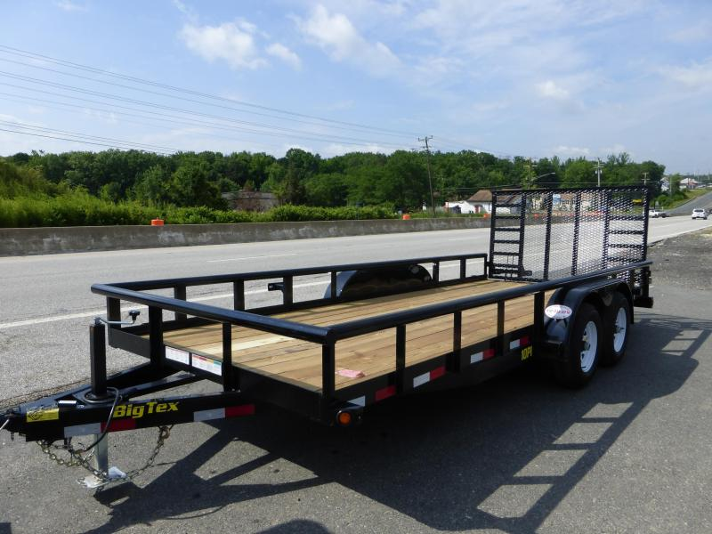 Big Tex Trailers 7' x 18' Utility Trailer with HD Spring Assist Gate
