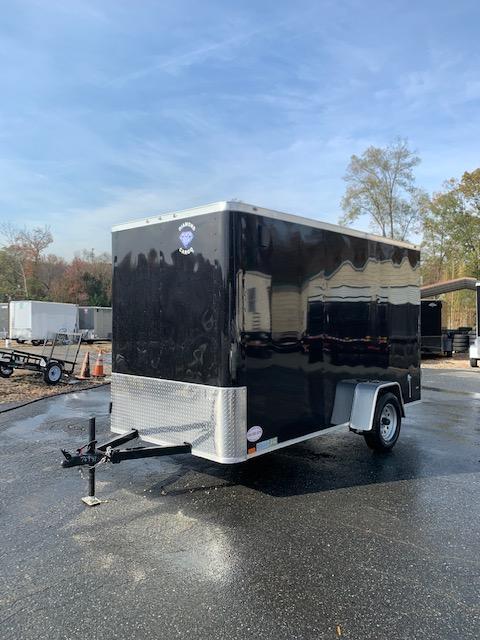 Diamond Cargo Black 6' x 12' Enclosed Cargo Trailer with Cargo Doors