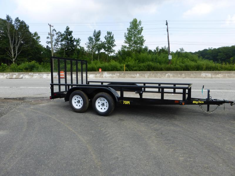 Big Tex 7' x 16' Landscape Trailer w/ Pipe Top Rails