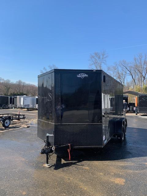 Diamond Cargo 7' x 14' Black Enclosed Trailer w/Ramp & Blackout Pkg.