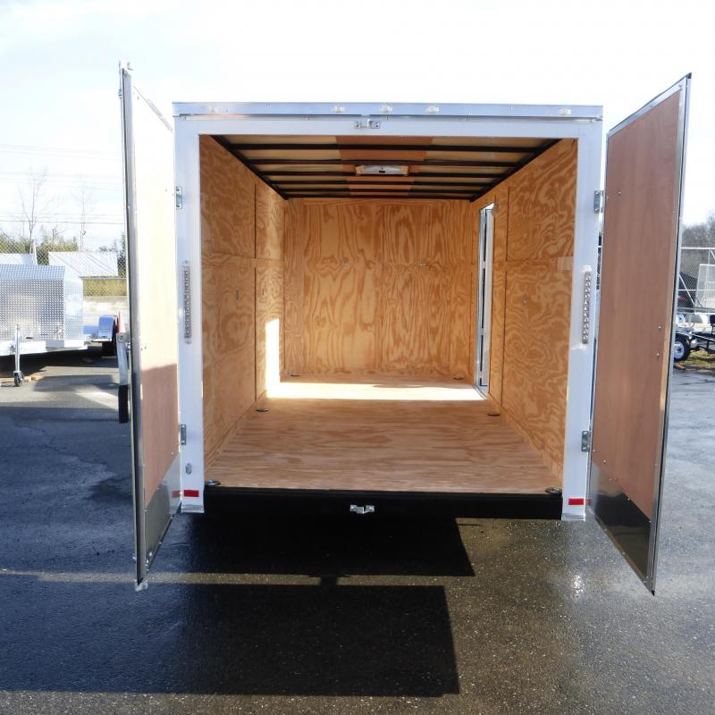 Covered Wagon Trailers 7' X 12' Tandem Axle Enclosed Cargo Trailer w/Cargo Doors