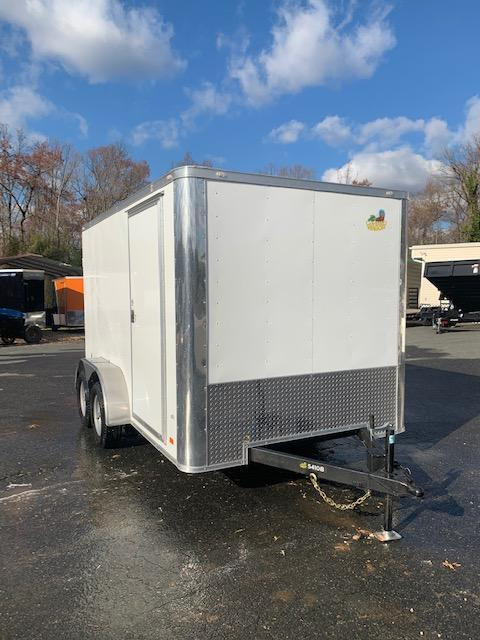 Covered Wagon 7' X 12' Tandem Axle Enclosed Cargo Trailer w/Cargo Doors