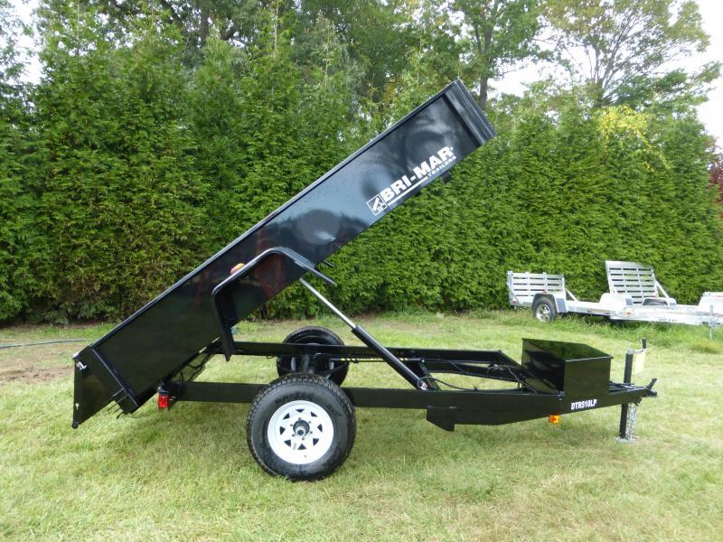 Bri-Mar 5' x 10' x 15' Single Axle Dump Trailer