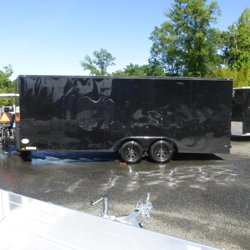 Diamond Cargo 8.5 X 20 Black Enclosed Cargo Trailer with Blackout Package