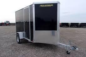 Aluma 6' x 12' All-Aluminum Black Enclosed Cargo Trailer