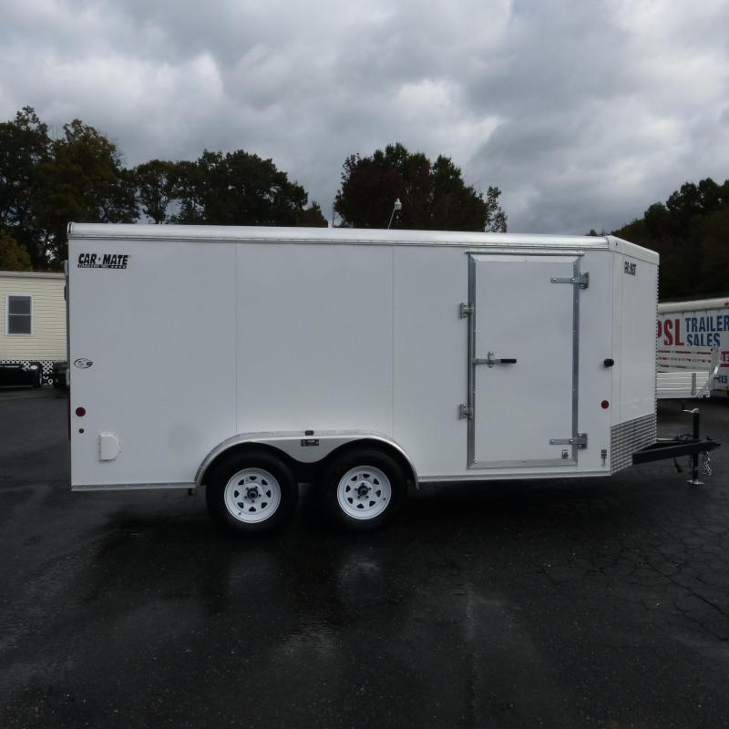 Car Mate 7' x 14' Enclosed Cargo Trailer with Ramp
