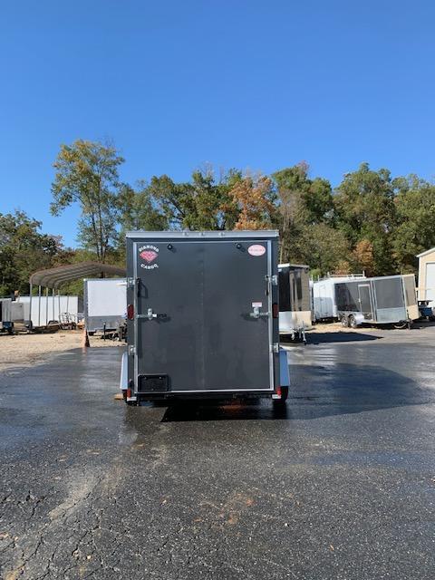 Diamond Cargo Charcoal 6' x 10' V-Nose Enclosed Cargo Trailer w/Ramp
