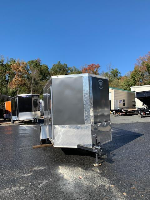 Diamond Cargo Charcoal 6' x 10' V-Nose Enclosed Cargo Trailer w/Ramp
