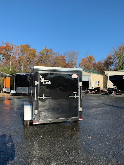 Lark 5' x 8' Black Enclosed Trailer w/Ramp & Side Door