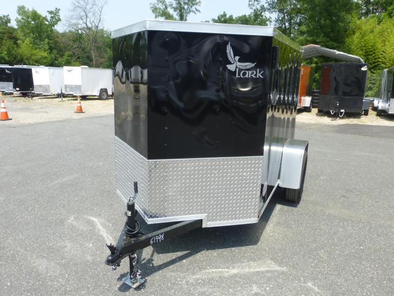 Lark 5' x 8' Black Enclosed Trailer w/Ramp