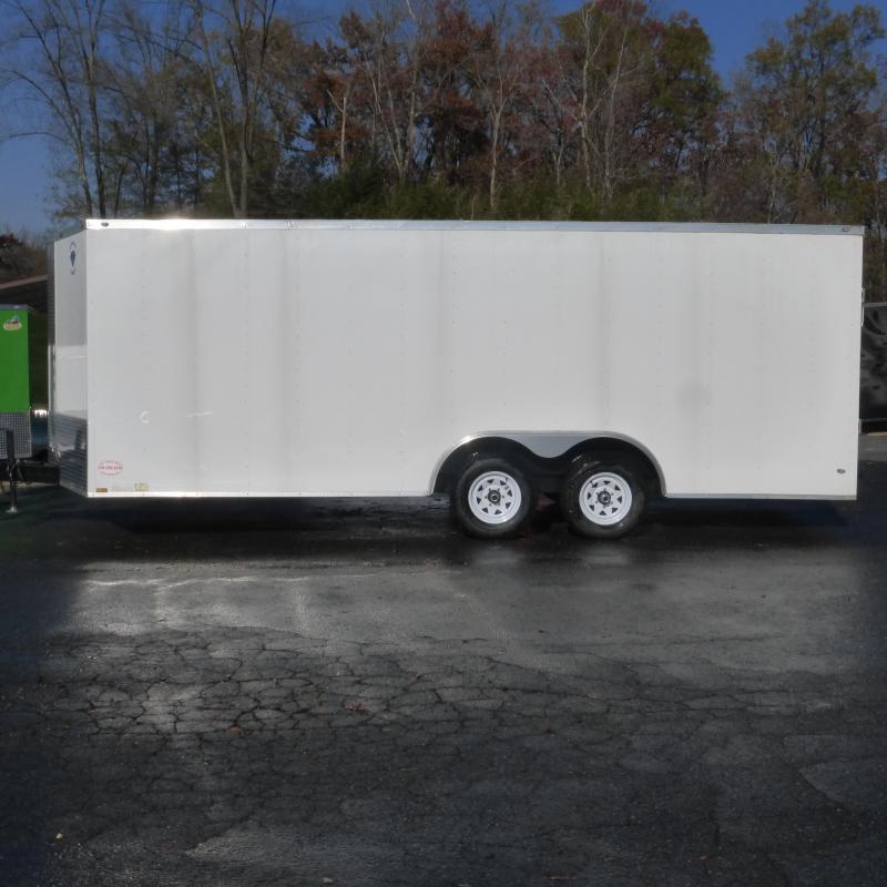 Diamond Cargo 8.5' x 20' V-Nose Enclosed Car Hauler Trailer w/Torsion Axles - 10K