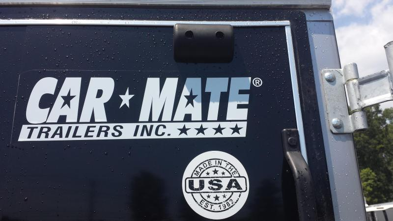 Car Mate 6' x 10' Black Enclosed Cargo Trailer with Ramp