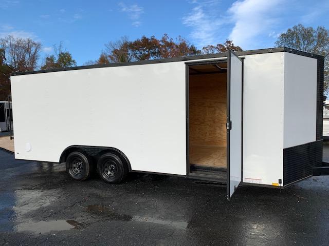 Diamond Cargo 8.5' x 20' White with Blackout Pkg Enclosed Trailer