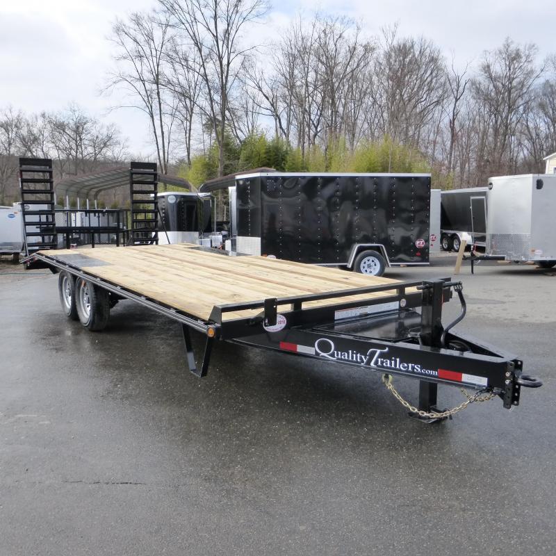 Quality 8.5' x 22' (18 + 4' dovetail) Deckover Equipment Trailer 14K